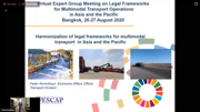 Virtual Expert Group Meeting on the Legal Framework for Multimodal Transport Operations in Asia and the Pacific