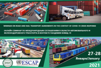 UNESCAP webinar on road and rail transport agreements in the context of COVID-19 crisis response
